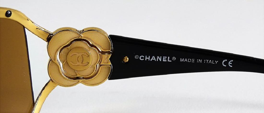 CHANEL CAMELLIA FLOWER CRYSTAL SUNGLASSES w/ CASE - 5
