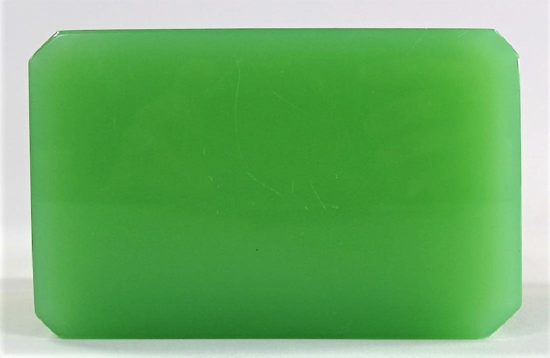 ANTIQUE FRENCH OPALINE GREEN DRESSER BOX - 7