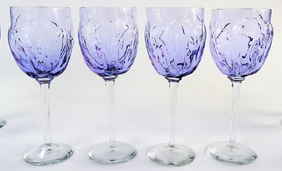 12 FINE ITALIAN BLOWN GLASS WINE GOBLET GLASSES - 3