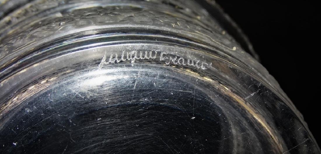 LALIQUE FRANCE RIQUEWIHR CRYSTAL WATER BUCKET - 2