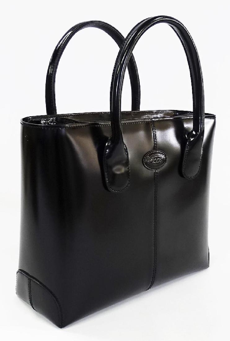 TODS BLACK LEATHER HANDBAG WITH DUST COVER - 3