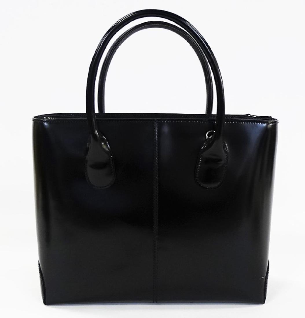 TODS BLACK LEATHER HANDBAG WITH DUST COVER - 5