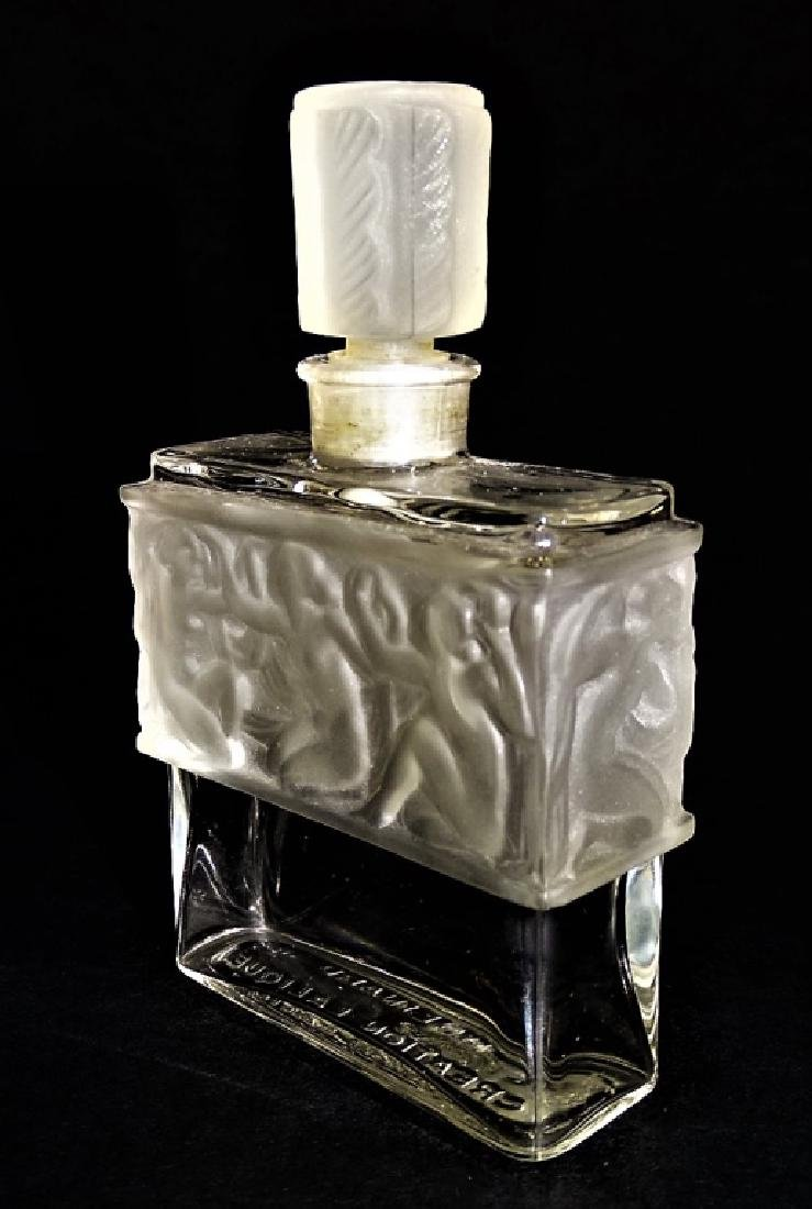 R. LALIQUE LES ILES D'OR CRYSTAL PERFUME BOTTLE