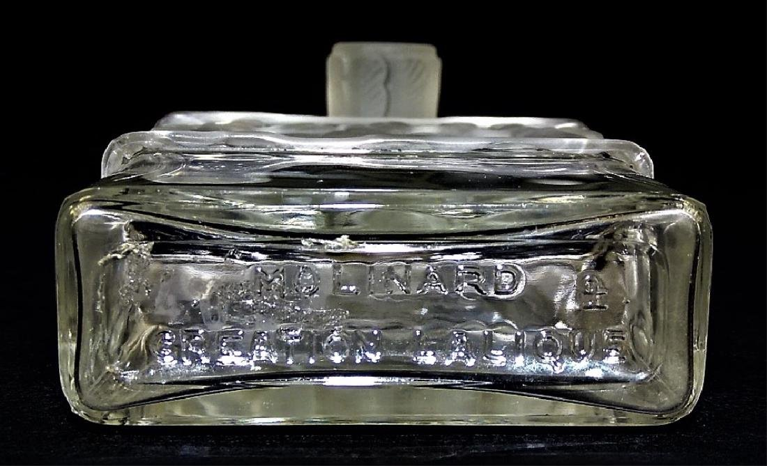 R. LALIQUE LES ILES D'OR CRYSTAL PERFUME BOTTLE - 4