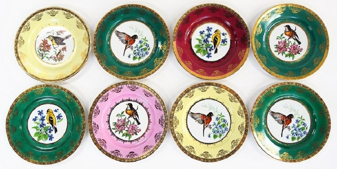 8 ANTIQUE ROYAL VIENNA DECORATED PORCELAIN PLATES