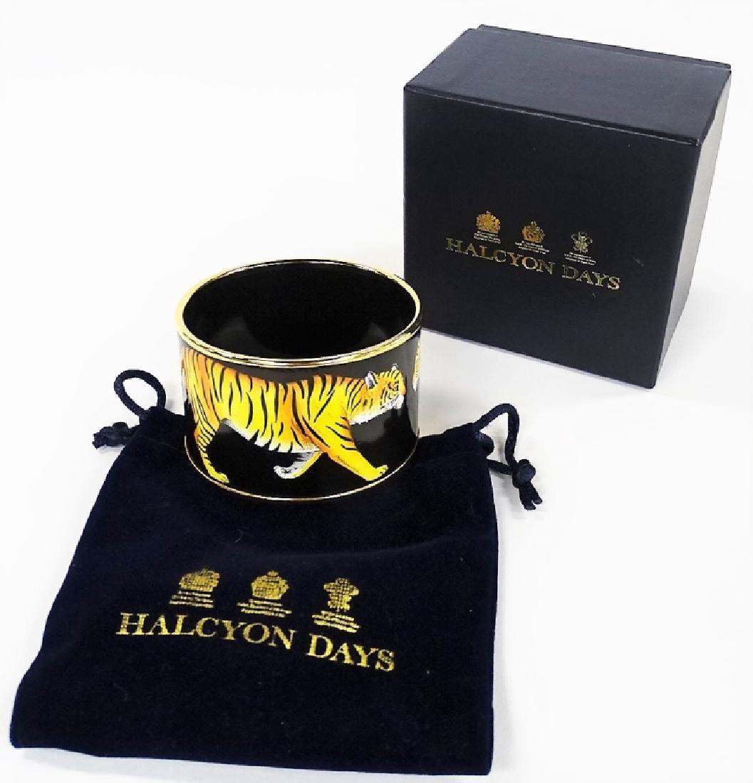 HALCYON DAYS - LONDON PAINTED ENAMEL TIGER BANGLE