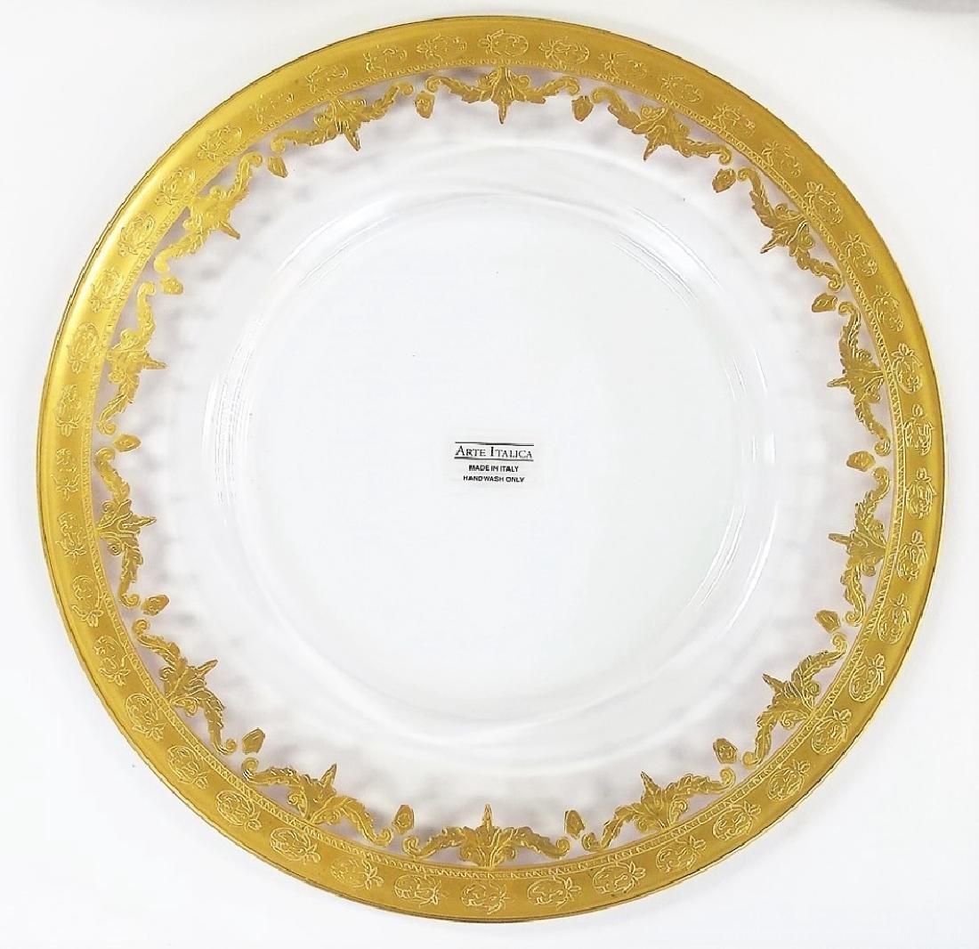 25 ARTE ITALICA GILT DECORATED CRYSTAL PLATES - 2