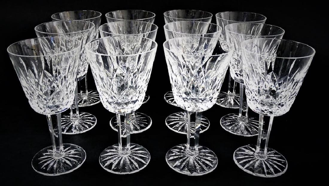 12 WATERFORD CRYSTAL WINE CLARET GLASSES