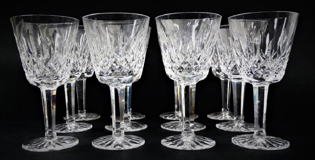 12 WATERFORD CRYSTAL WINE CLARET GLASSES - 2