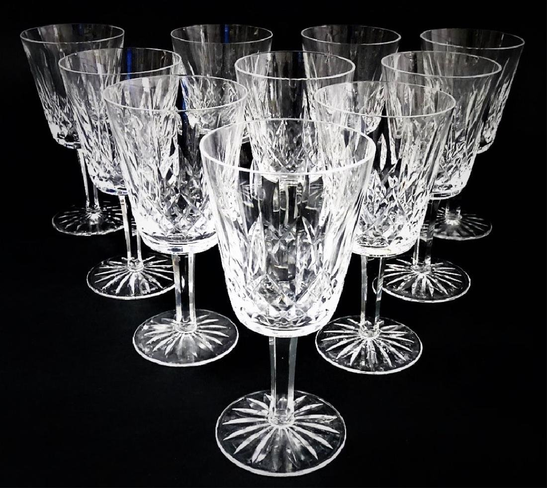 10 WATERFORD CRYSTAL WATER GOBLET GLASSES