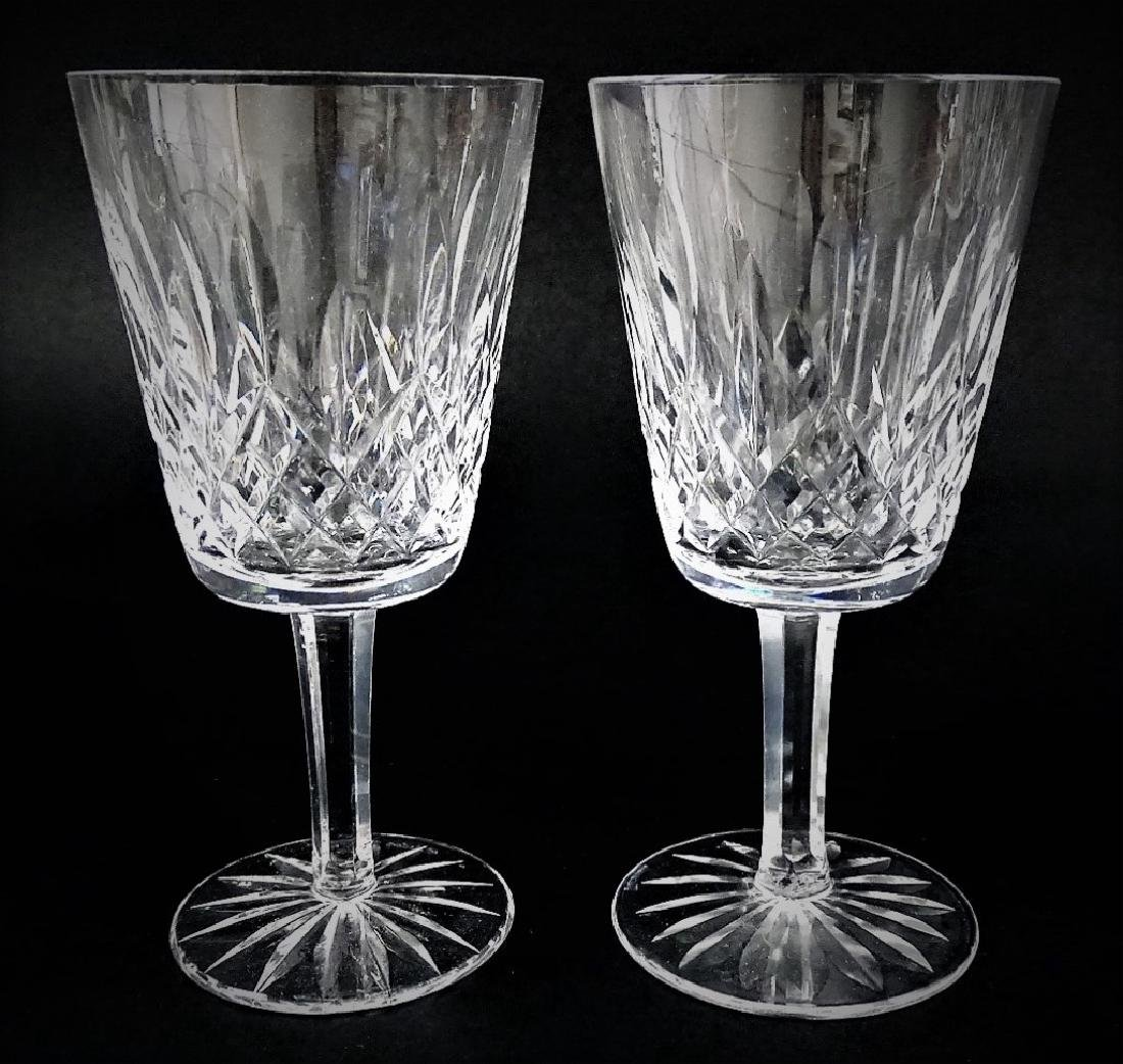 10 WATERFORD CRYSTAL WATER GOBLET GLASSES - 2