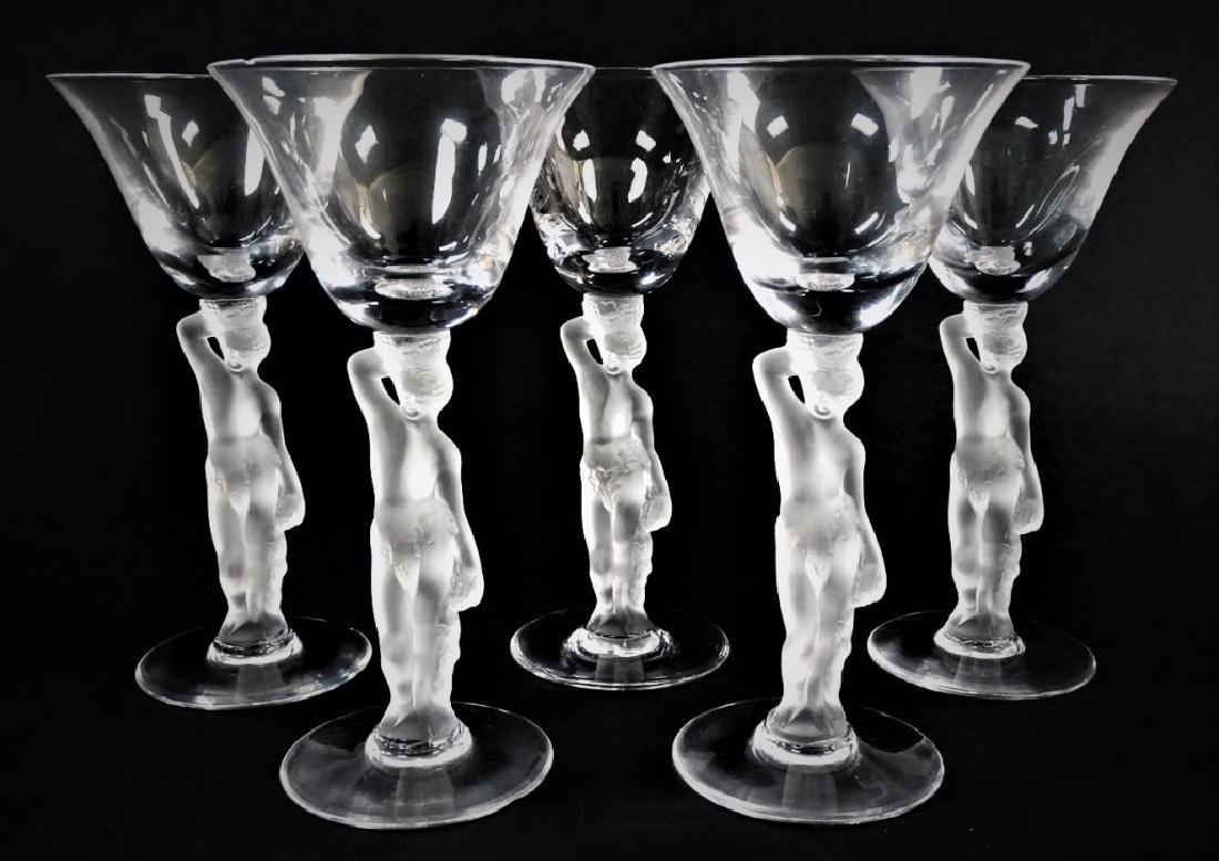 5 IGOR CARL FABERGE BACCHUS CORDIAL GLASSES