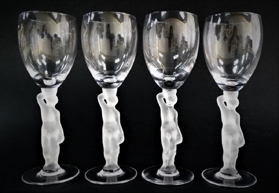 4 IGOR CARL FABERGE BACCHUS SHERRY GLASSES