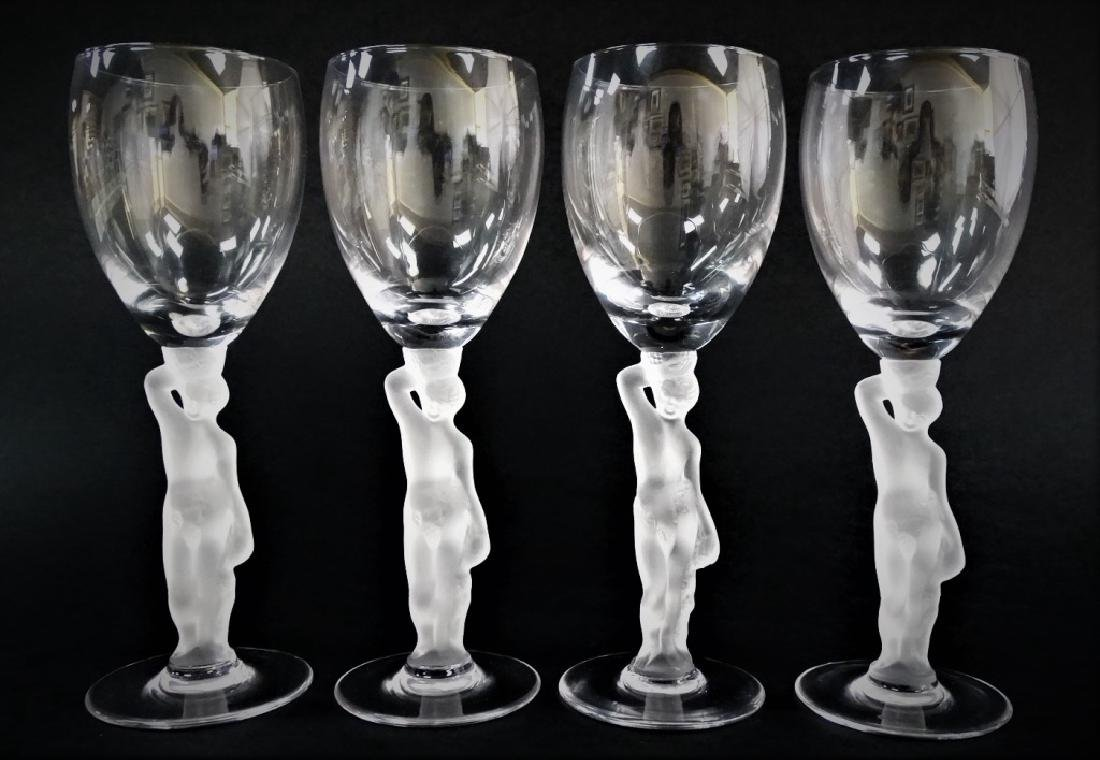 4 IGOR CARL FABERGE BACCHUS SHERRY GLASSES