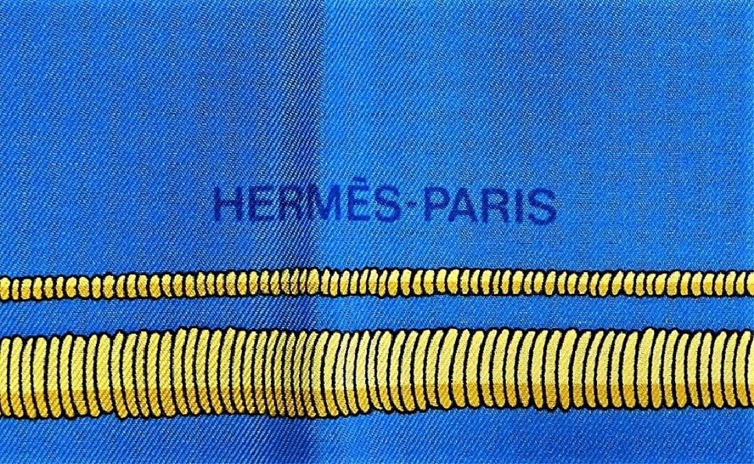 "HERMES PARIS ""DEO JUVANTE MONACO"" SILK SCARF W/BOX - 4"