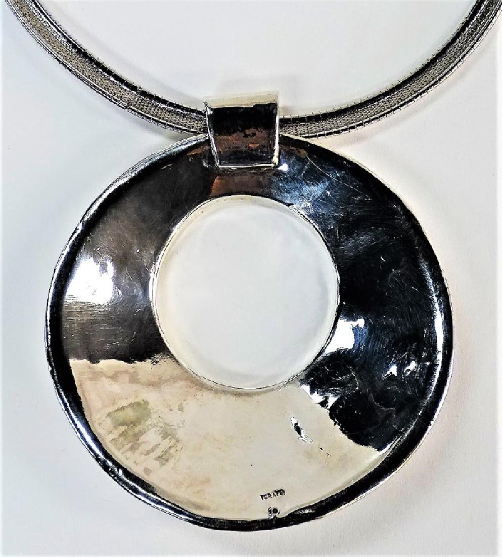 RETRO STYLE STERLING SILVER COLLAR NECKLACE - 4