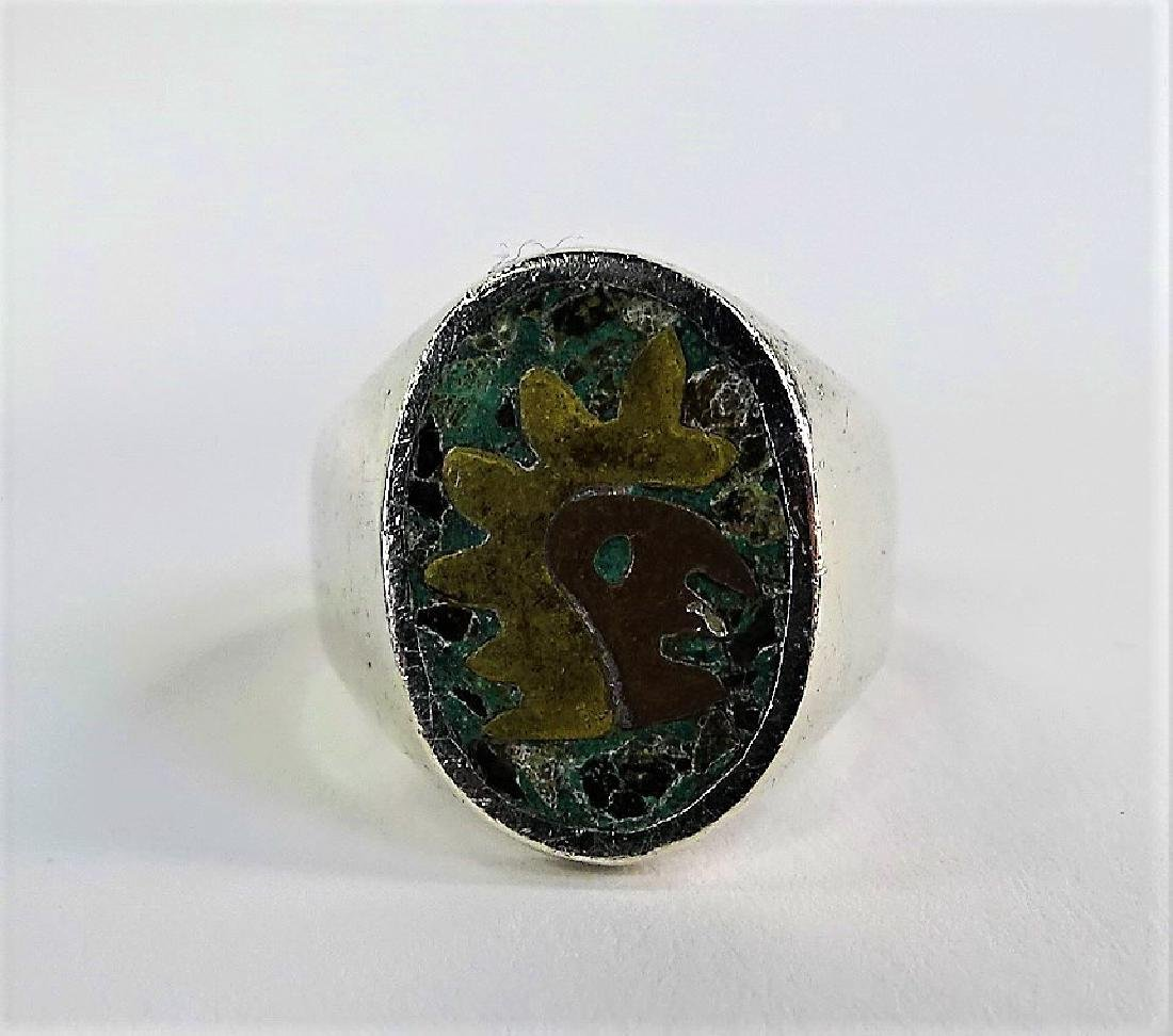 VTG TAXCO MEXICO STERLING SILVER TURQUOISE JEWELRY - 3