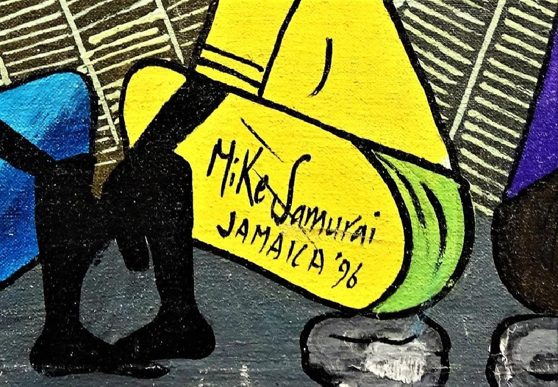 20TH C. MIKE SAMURAI ACRYLIC ON CANVAS PAINTING - 3