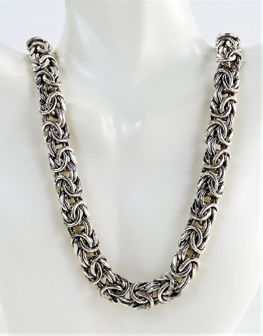 VTG ITALIAN CRAFTED .925 STERLING SILVER NECKLACE