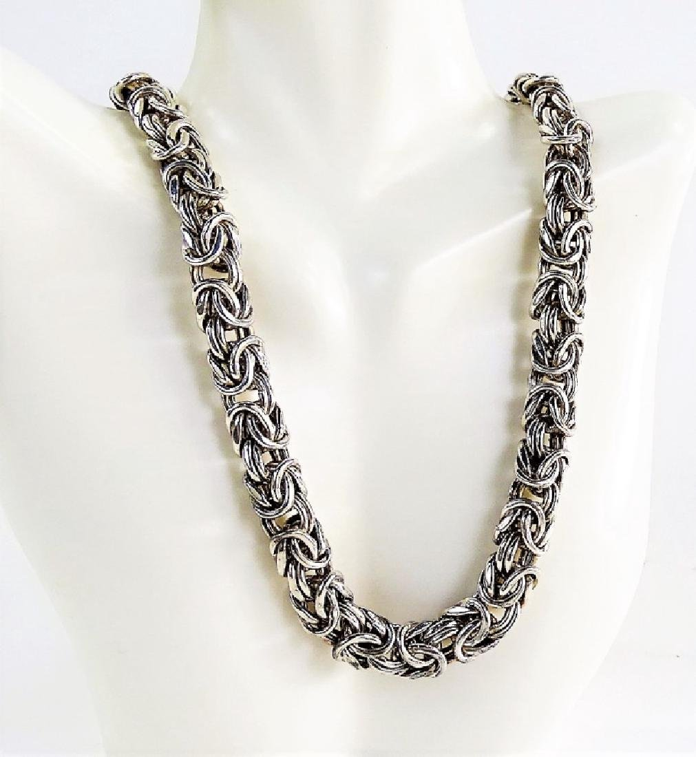 VTG ITALIAN CRAFTED .925 STERLING SILVER NECKLACE - 2