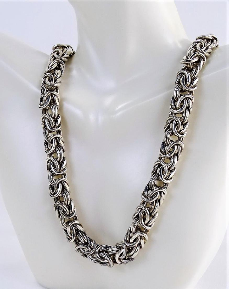 VTG ITALIAN CRAFTED .925 STERLING SILVER NECKLACE - 3