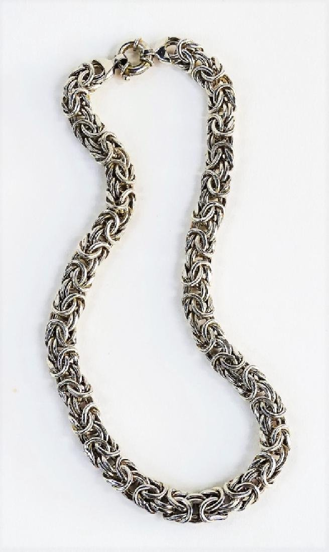 VTG ITALIAN CRAFTED .925 STERLING SILVER NECKLACE - 4