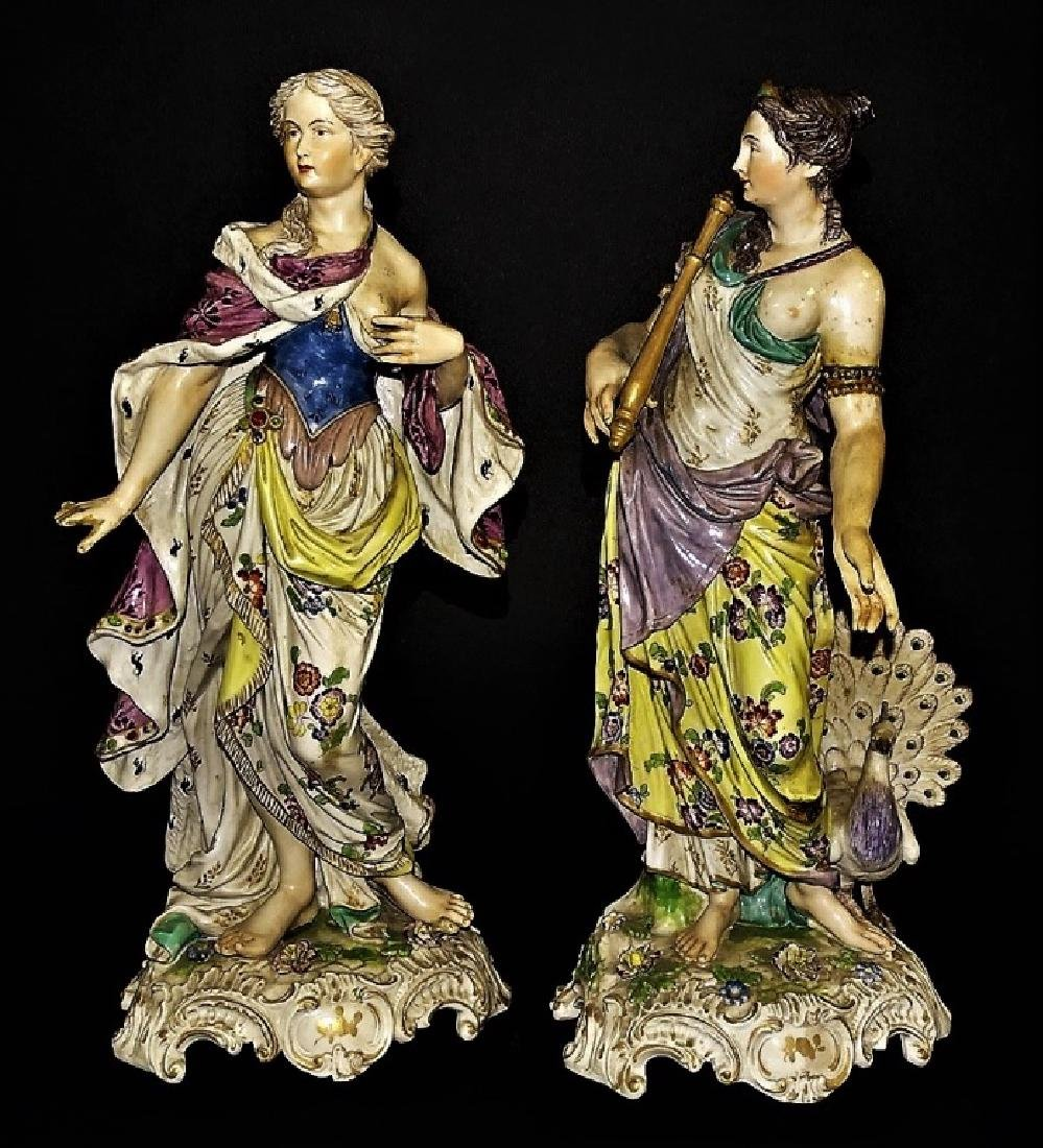 PR ANTIQUE CONTINENTAL PORCELAIN FIGURE GROUPS