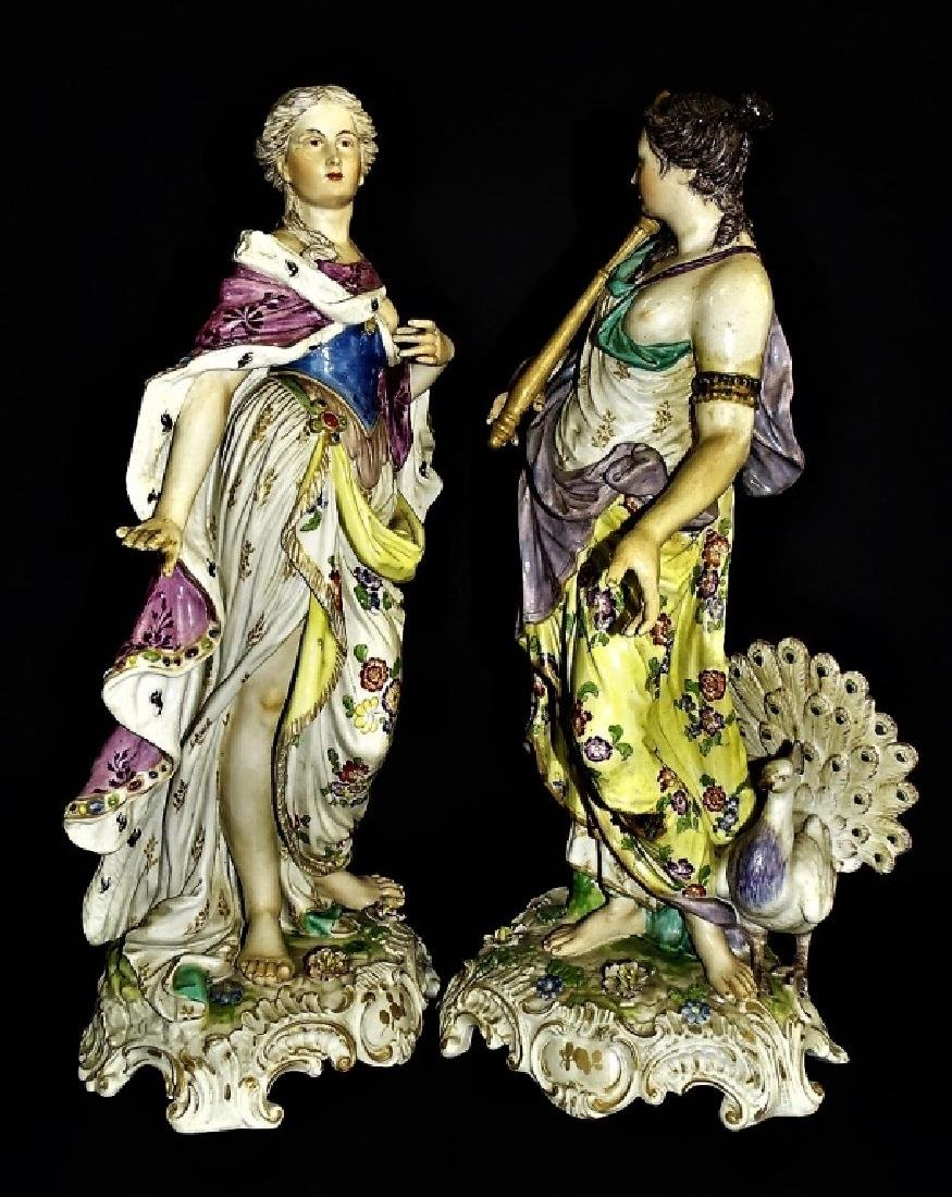 PR ANTIQUE CONTINENTAL PORCELAIN FIGURE GROUPS - 2