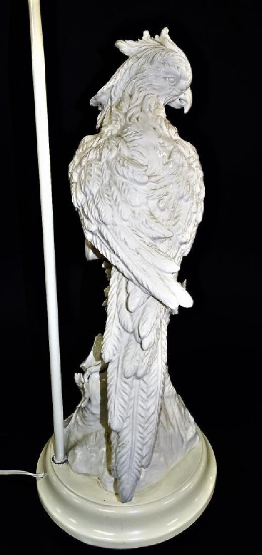 IMPRESSIVE CONTINENTAL BLANC DE CHINE PARROT LAMP - 4