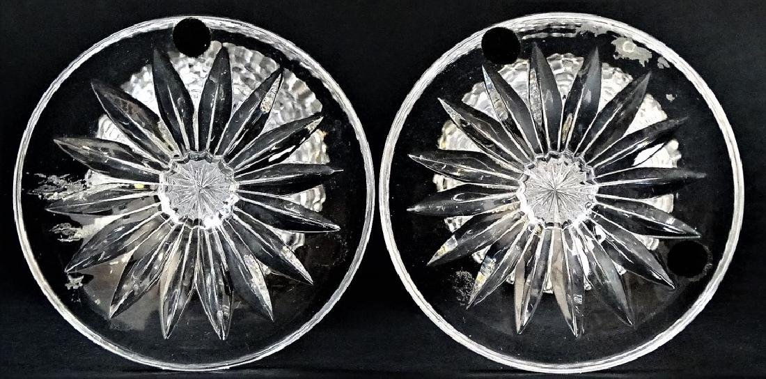 PR FRENCH STYLE CUT CRYSTAL VASES WITH GILT RIMS - 3
