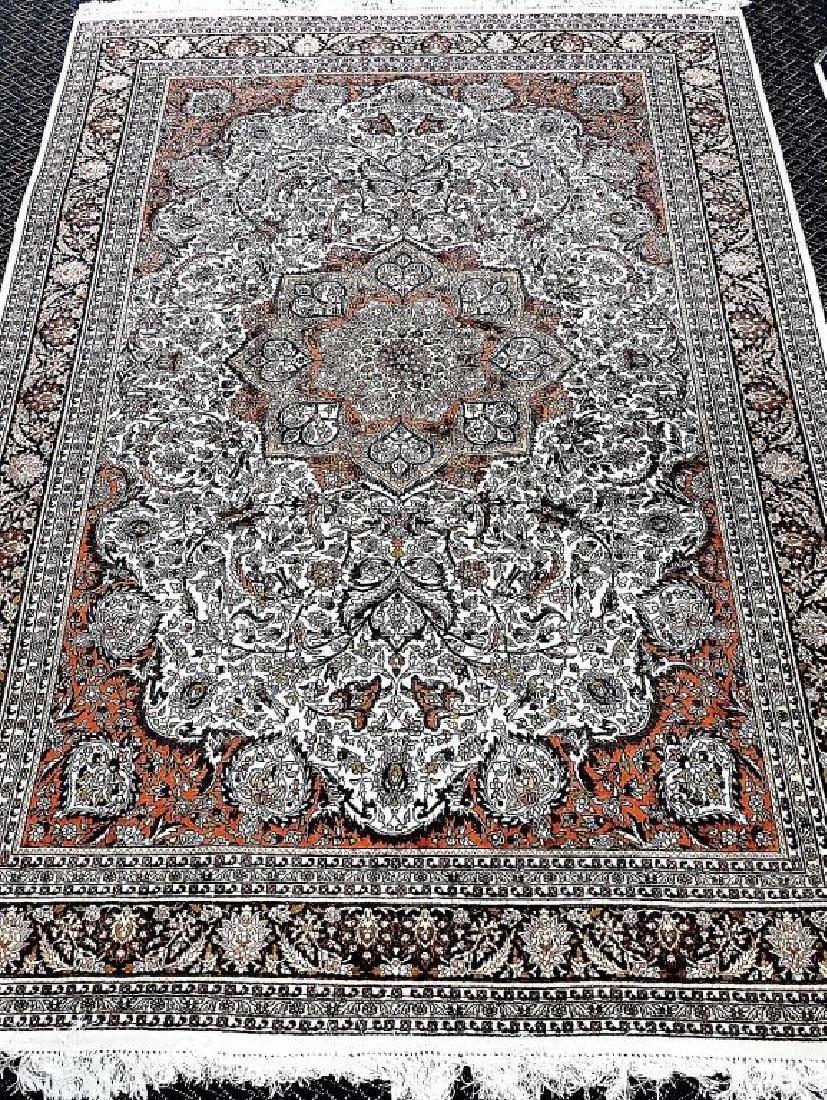 10' X 7' VINTAGE ORIENTAL KASHAN PERSIAN RUG