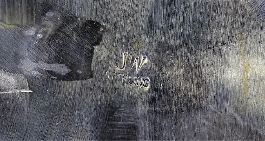 ZUNI JUDY WALLACE LARGE STERLING TURQUOISE PIN - 4