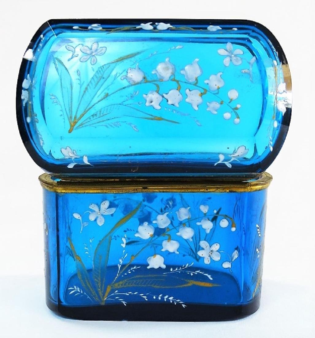 MARY GREGORY STYLE ENAMELED GLASS DRESSER BOX - 5