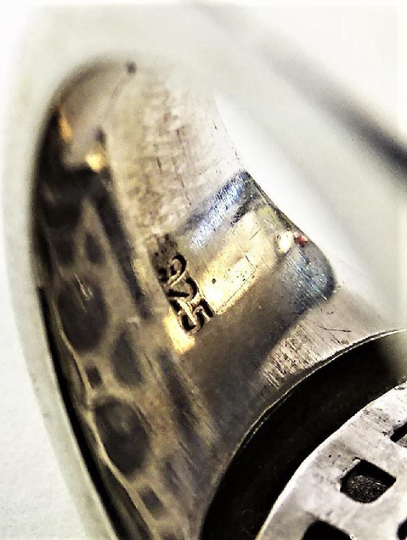 VTG BELLE ETOILE .925 STERLING COCCODRILLO RING - 6