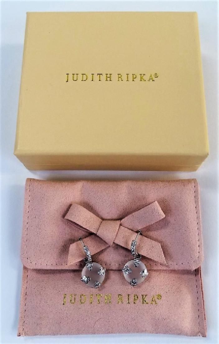 JUDITH RIPKA 18KT ROCK CRYSTAL & DIAMOND EARRINGS