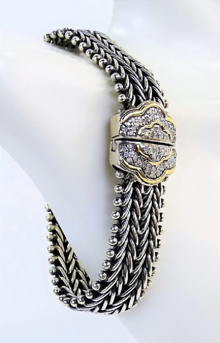 JUDITH RIPKA 14KT YG STERLING & DIAMOND BRACELET - 2
