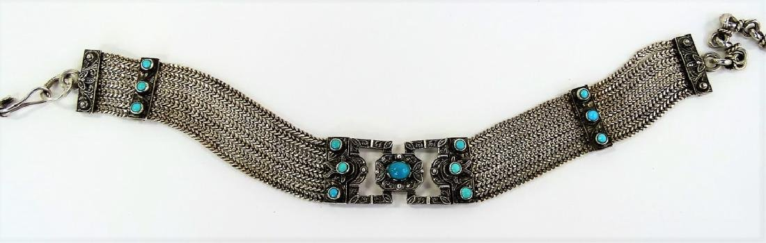 VTG TAXCO MEXICO HEAVY STERLING CHOKER NECKLACE - 2