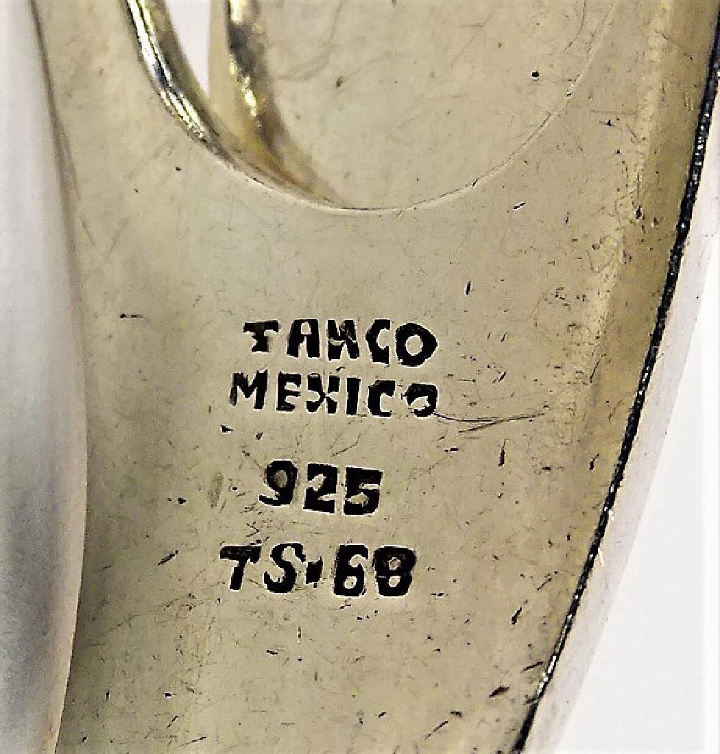 VTG TAXCO MEXICO HINGED STERLING BANGLE BRACELET - 5
