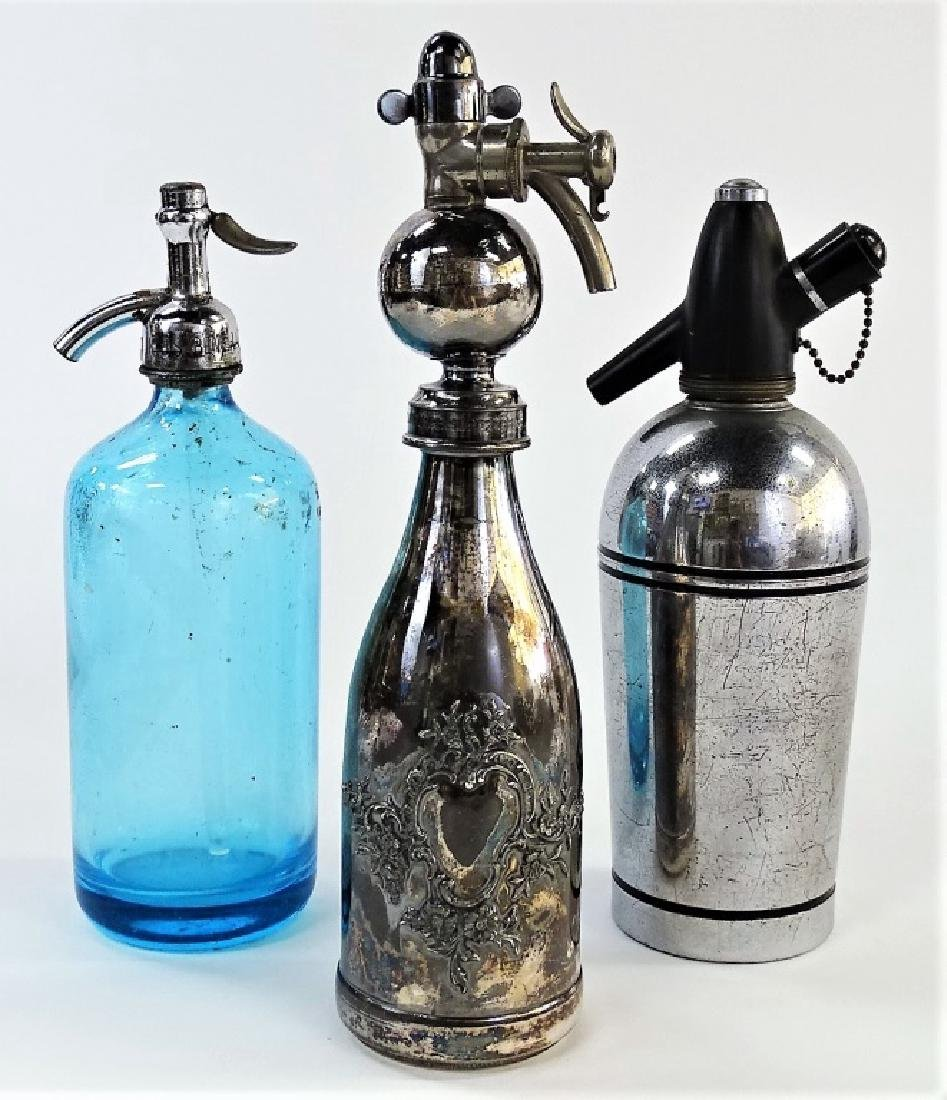 3 ANTIQUE & VINTAGE AMERICAN SELTZER BOTTLES