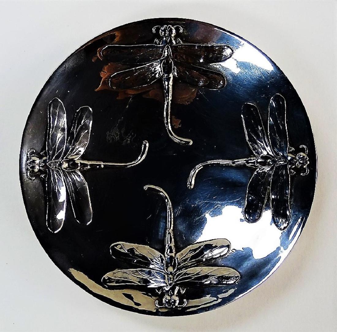 CHRISTOFLE SILVER PLATE ART NOUVEAU DRAGONFLY DISH - 2