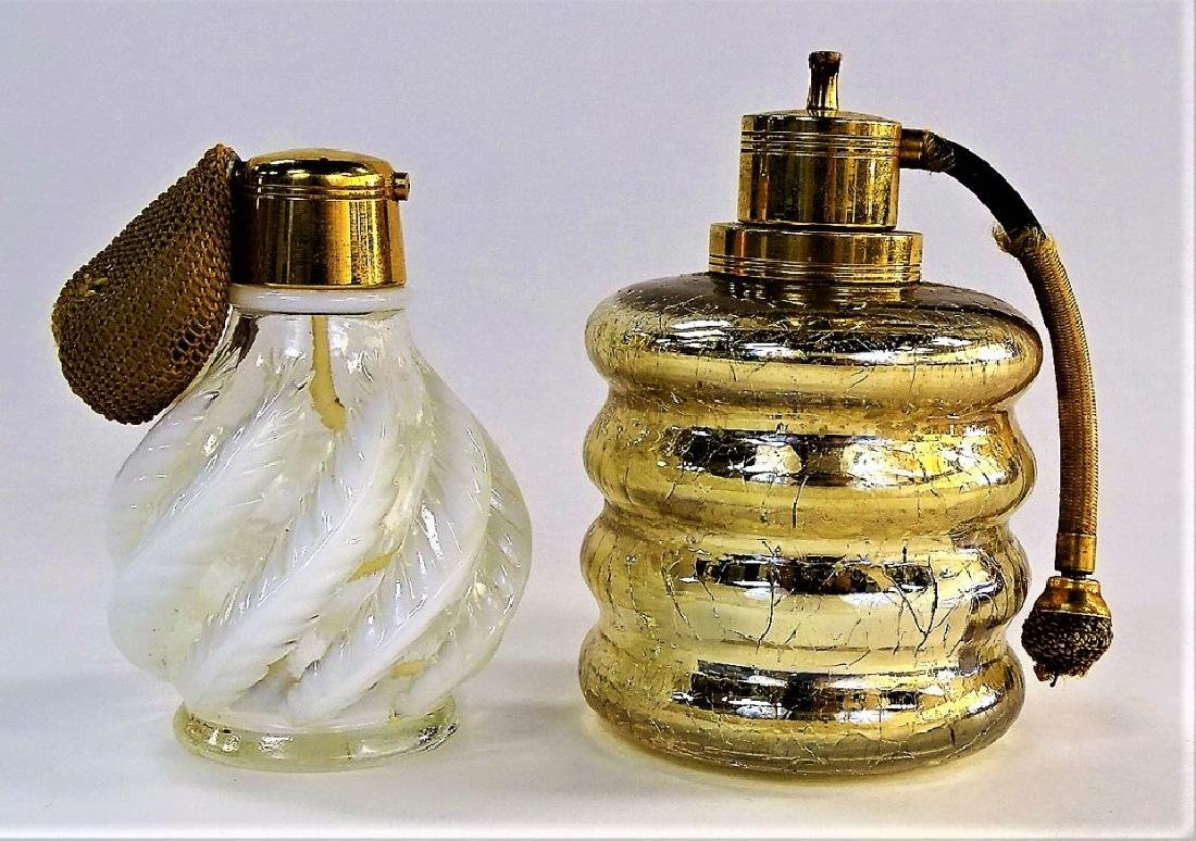 PR VTG DEVILBISS SIGNED GLASS PERFUME BOTTLES