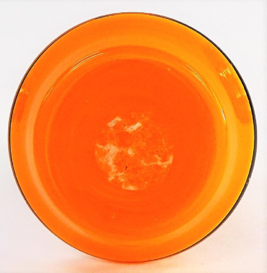 VTG DEVILBISS ORANGE GLASS PERFUME BOTTLE - 4