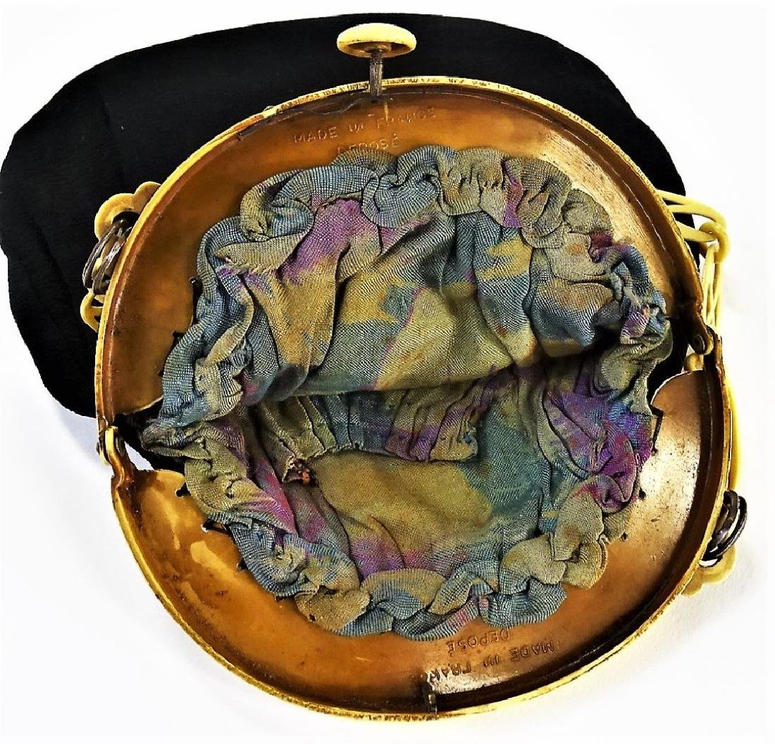 1920'S CELLULOID & CLOTH LADIES EVENING HAND BAG - 4