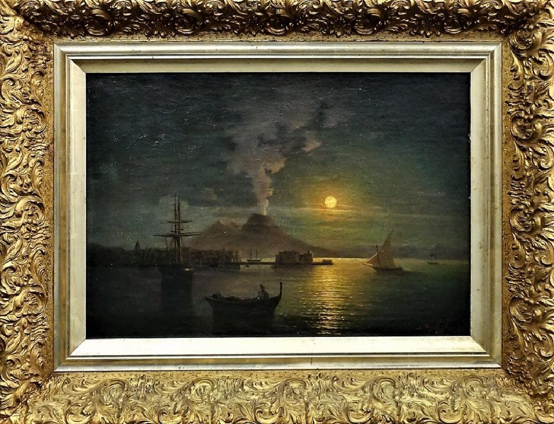 AFTER IVAN AIVAZOVSKY SEASCAPE OIL/CANVAS PAINTING