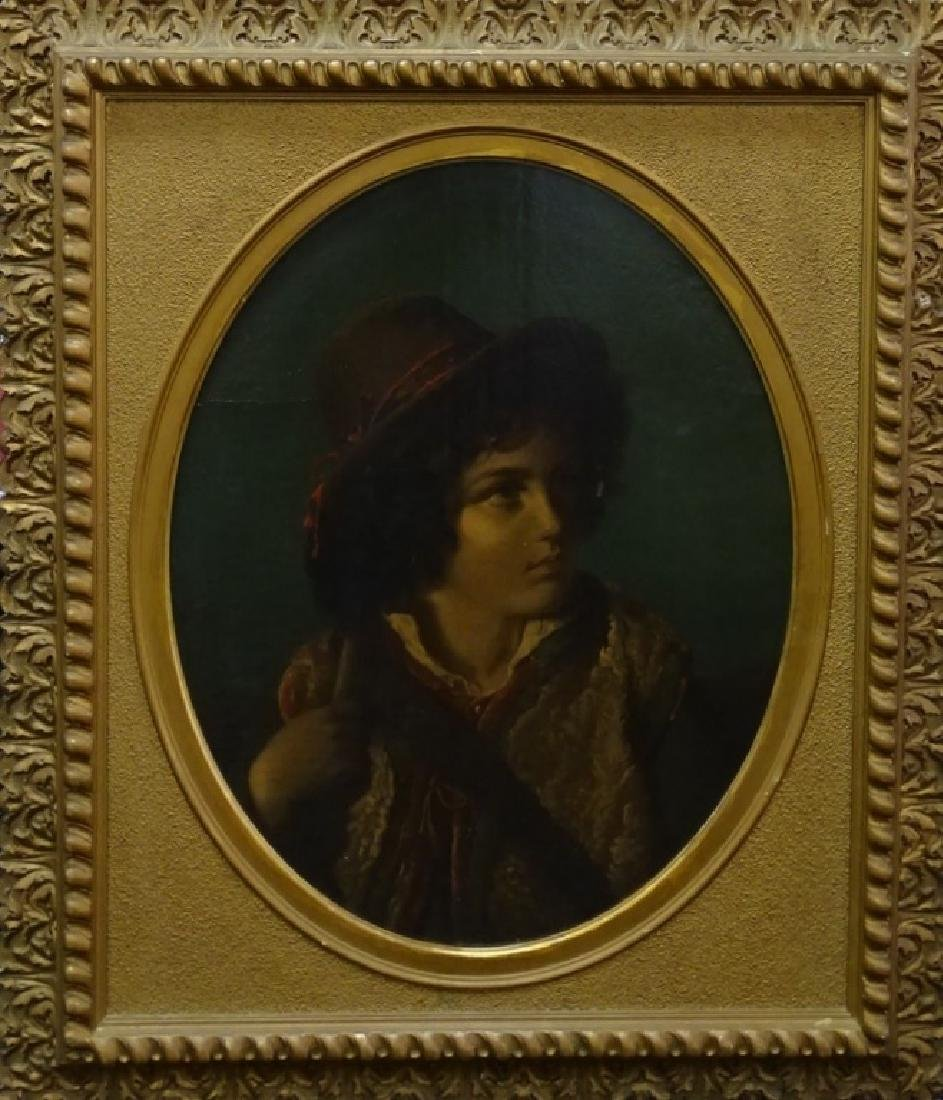 EARLY 19TH C. CONTINENTAL OIL/CANVAS PORTRAIT PTG