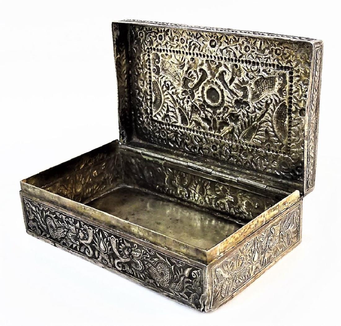 ANTIQUE IMPERIAL CHINESE SILVER 5-TOED DRAGON BOX - 4