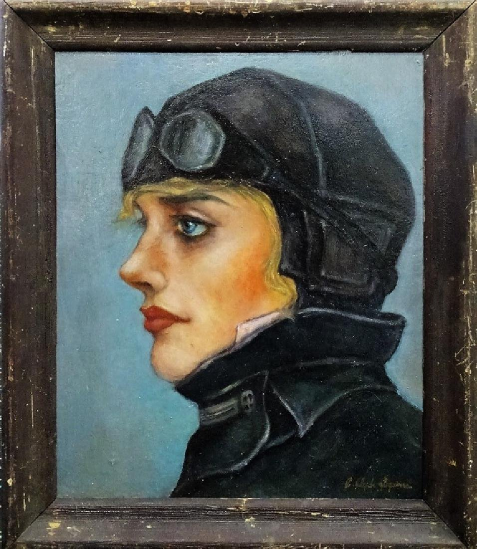 EMILIA EARHART OIL PTG  ATTR. TO C. CLYDE SQUIRES