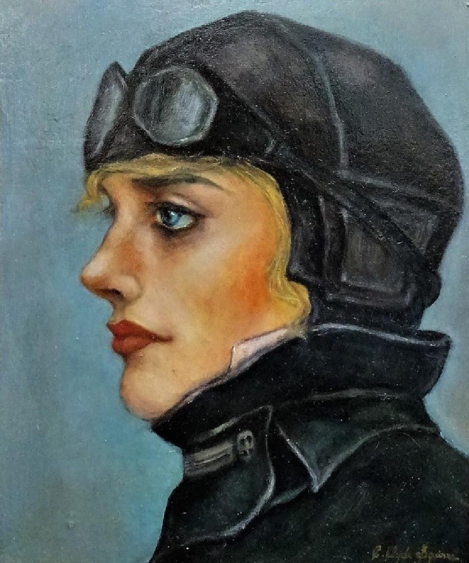 EMILIA EARHART OIL PTG  ATTR. TO C. CLYDE SQUIRES - 2