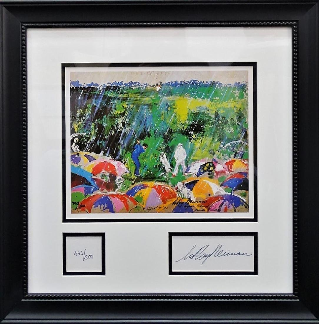 "LEROY NEIMAN ""ARNIE IN THE RAIN"" LITHOGRAPH"