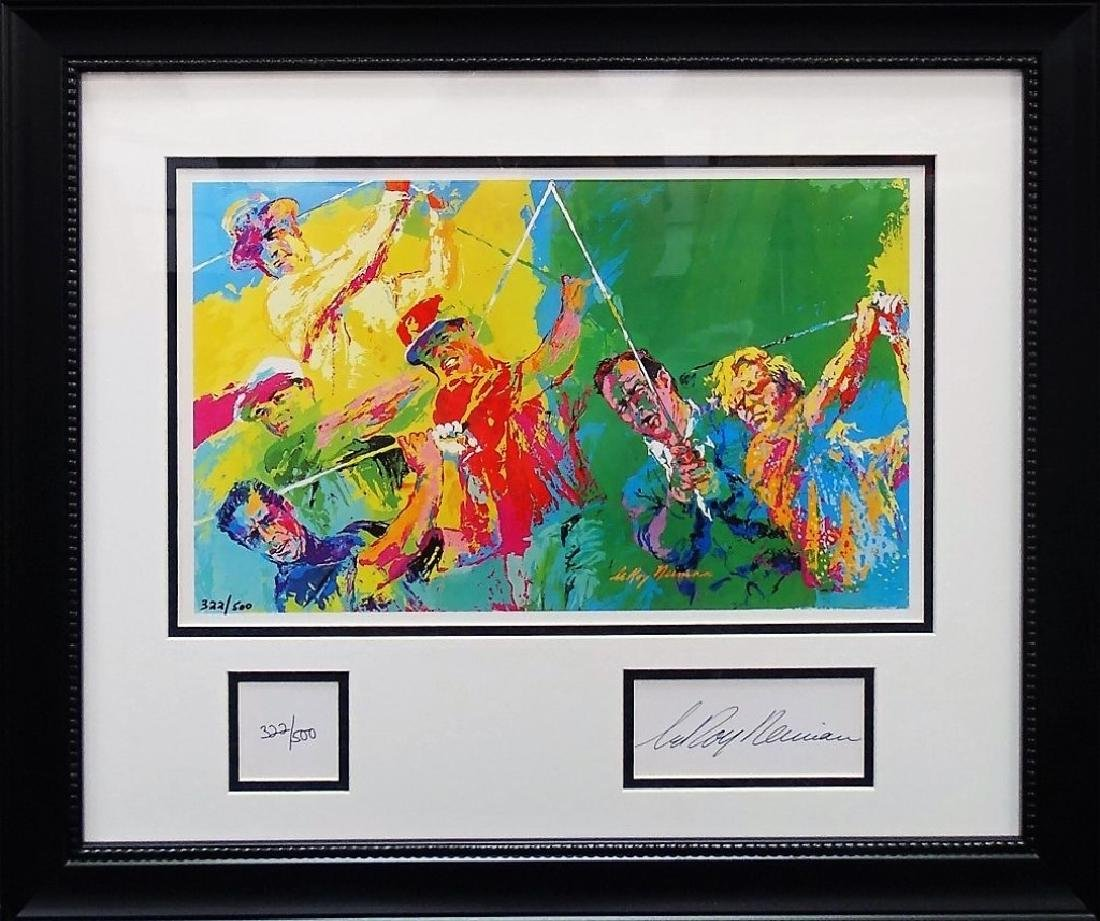 LEROY NEIMAN GOLF WINNERS SIGNED SERIGRAPH